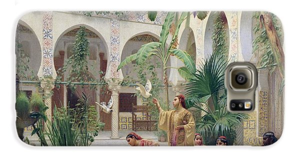 Stork Galaxy S6 Case - The Court Of The Harem by Albert Girard
