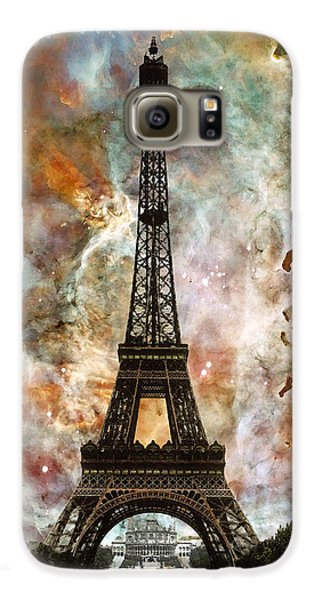 The Eiffel Tower - Paris France Art By Sharon Cummings Galaxy S6 Case by Sharon Cummings