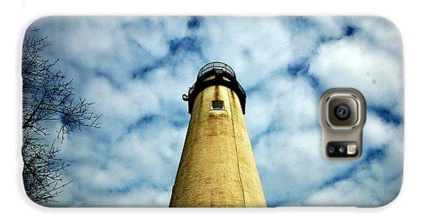 The Fenwick Light And A Mackerel Sky Galaxy S6 Case