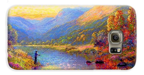 Orchid Galaxy S6 Case - Fishing And Dreaming by Jane Small