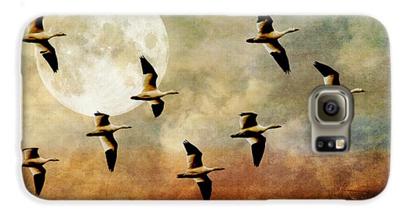 Goose Galaxy S6 Case - The Flight Of The Snow Geese by Lois Bryan