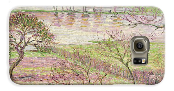 The Flood At Eragny Galaxy S6 Case by Camille Pissarro
