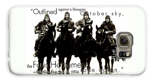 The Four Horsemen Of Notre Dame Galaxy S6 Case by David Patterson