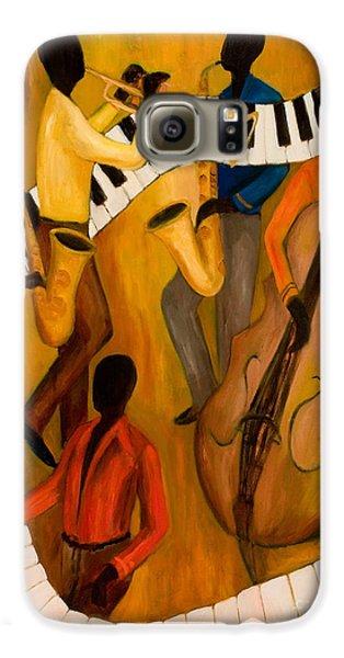Trumpet Galaxy S6 Case - The Get-down Jazz Quintet by Larry Martin