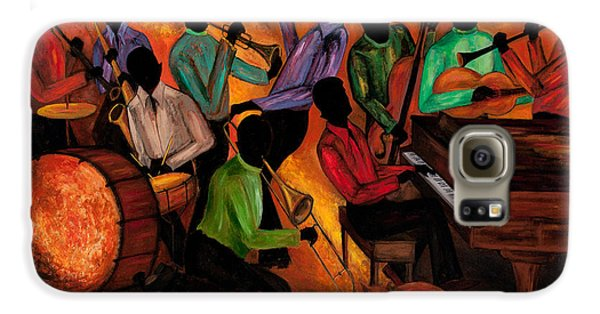 Jazz Galaxy S6 Case - The Gitdown Hoedown by Larry Martin