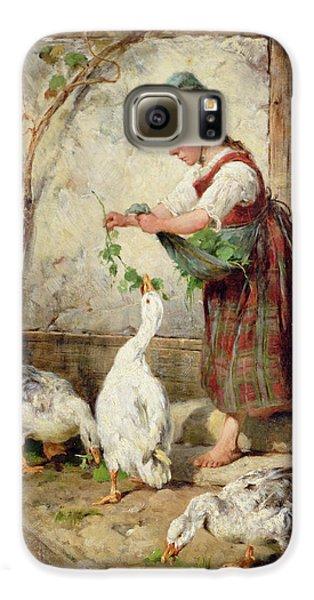 Goose Galaxy S6 Case - The Goose Girl by Antonio Montemezzano