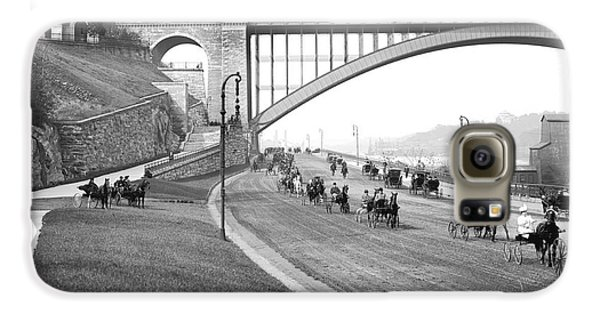 Harlem Galaxy S6 Case - The Harlem River Speedway by Detroit Publishing Company
