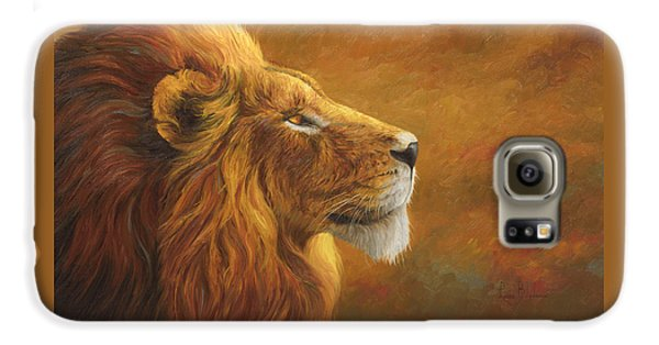 Lion Galaxy S6 Case - The King by Lucie Bilodeau