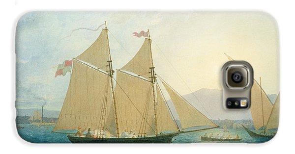 Boat Galaxy S6 Case - The Launch La Sociere On The Lake Of Geneva by Francis  Danby