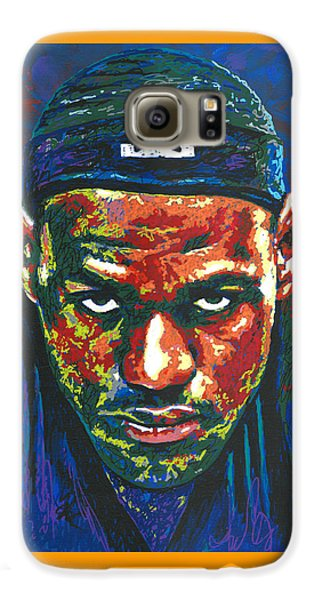 The Lebron Death Stare Galaxy S6 Case by Maria Arango