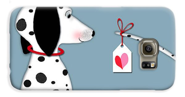 Dog Galaxy S6 Case - The Letter D For Dalmatian by Valerie Drake Lesiak