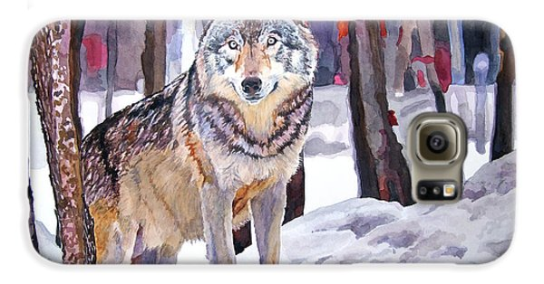 Wolves Galaxy S6 Case - The Lone Wolf by David Lloyd Glover