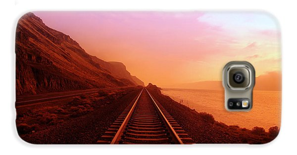 Transportation Galaxy S6 Case - The Long Walk To No Where  by Jeff Swan