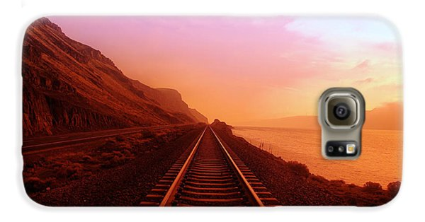 Train Galaxy S6 Case - The Long Walk To No Where  by Jeff Swan