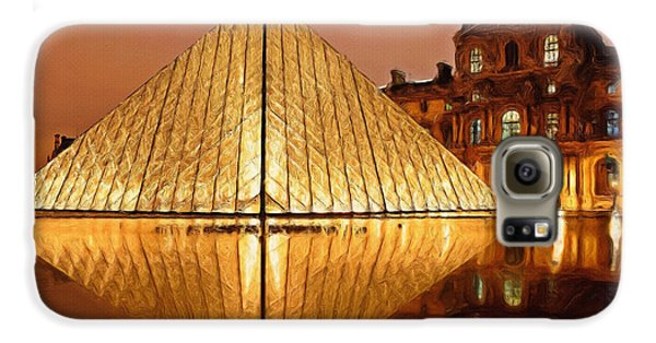 The Louvre By Night Galaxy S6 Case