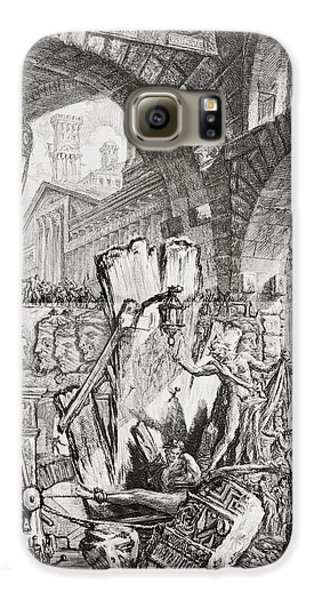 The Man On The Rack Plate II From Carceri D'invenzione Galaxy S6 Case by Giovanni Battista Piranesi