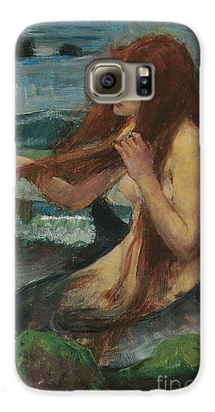 The Mermaid Galaxy S6 Case by John William Waterhouse