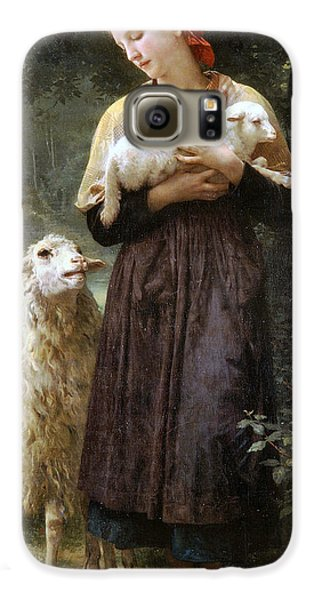 Sheep Galaxy S6 Case - The Newborn Lamb by William Bouguereau