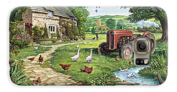 Geese Galaxy S6 Case - The Old Tractor by Steve Crisp