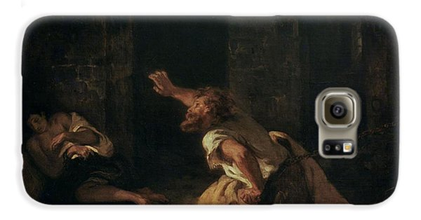 The Prisoner Of Chillon Galaxy S6 Case by Ferdinand Victor Eugene Delacroix