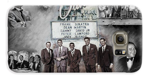 Frank Sinatra Galaxy S6 Case - The Rat Pack by Viola El