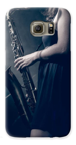 The Saxophonist Sounds In The Night Galaxy S6 Case by Bob Orsillo