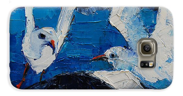 The Seagulls Galaxy S6 Case by Mona Edulesco
