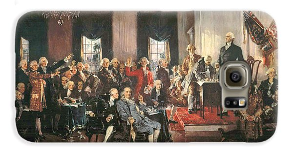The Signing Of The Constitution Of The United States In 1787 Galaxy S6 Case by Howard Chandler Christy