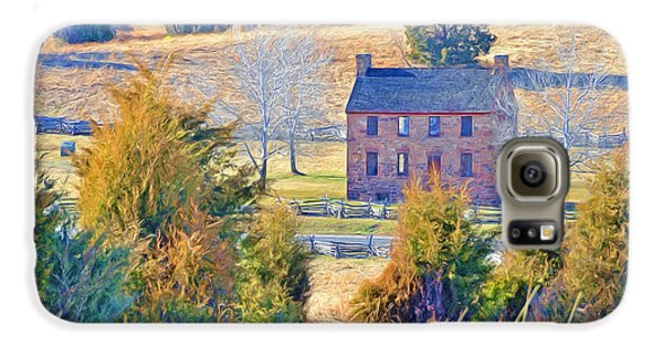 The Stone House / Manassas National Battlefield Park In Winter Galaxy S6 Case