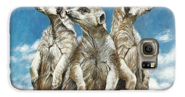 Meerkat Galaxy S6 Case - The Watchers by Dreyer Wildlife Print Collections