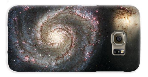 The Whirlpool Galaxy M51 And Companion Galaxy S6 Case by Adam Romanowicz