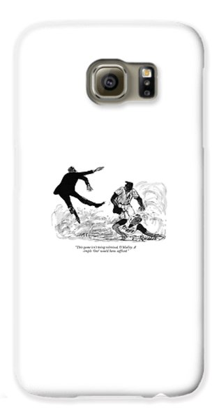 Baseball Players Galaxy S6 Case - This Game Isn't Being Televised by Joseph Mirachi