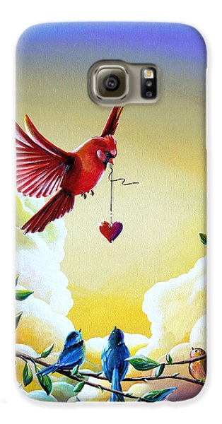 Chickadee Galaxy S6 Case - This Heart Of Mine by Cindy Thornton