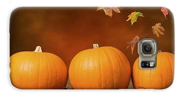 Three Pumpkins Galaxy S6 Case by Amanda Elwell
