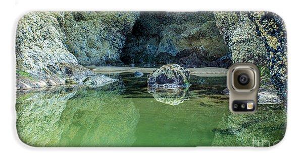 Tidepool Shades Of Green At Sunrise Galaxy S6 Case