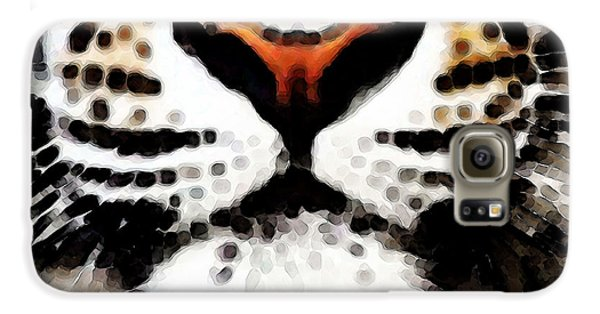 Tiger Art - Burning Bright Galaxy S6 Case by Sharon Cummings