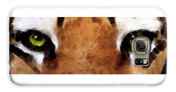 Tiger Art - Hungry Eyes Galaxy S6 Case by Sharon Cummings