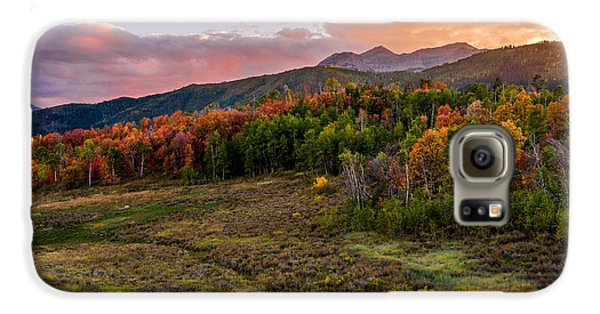 Mountain Sunset Galaxy S6 Case - Timp Fall Glow by Chad Dutson