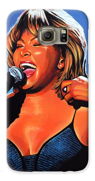 Rhythm And Blues Galaxy S6 Case - Tina Turner Queen Of Rock by Paul Meijering