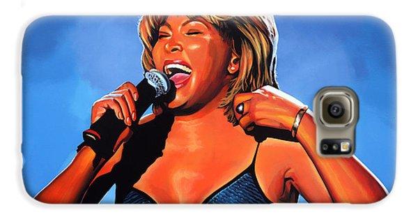 Tina Turner Queen Of Rock Galaxy S6 Case by Paul Meijering