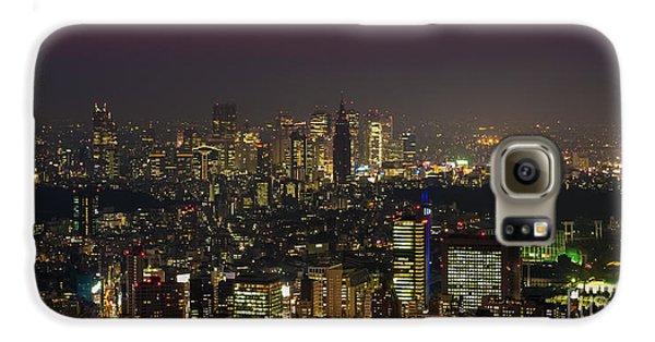Tokyo Skyline Galaxy S6 Case - Tokyo City Skyline by Fototrav Print