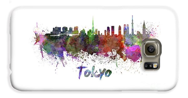 Tokyo Skyline In Watercolor Galaxy S6 Case