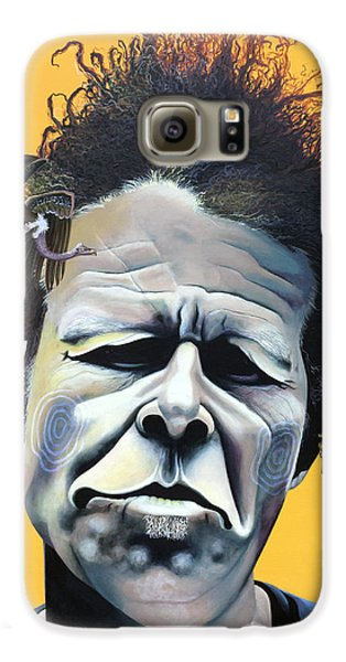 Tom Waits - He's Big In Japan Galaxy S6 Case by Kelly Jade King