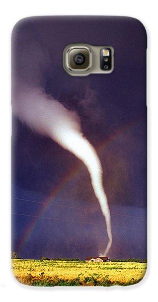 Tornado With Rainbow In Mulvane Kansas Galaxy S6 Case