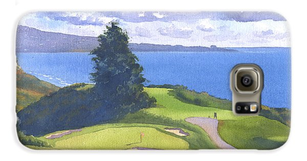 Torrey Pines Golf Course North Course Hole #6 Galaxy S6 Case by Mary Helmreich