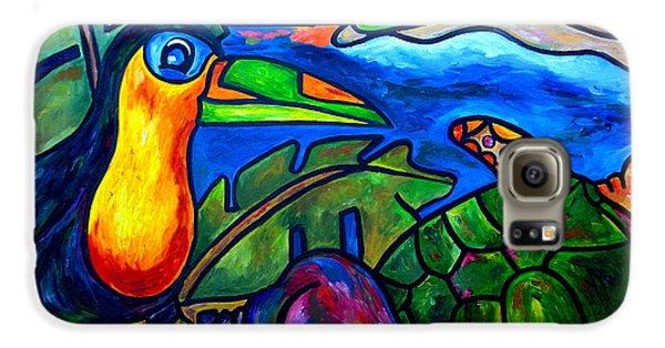 Toucan Galaxy S6 Case - Tortuga Eco Tour by Patti Schermerhorn