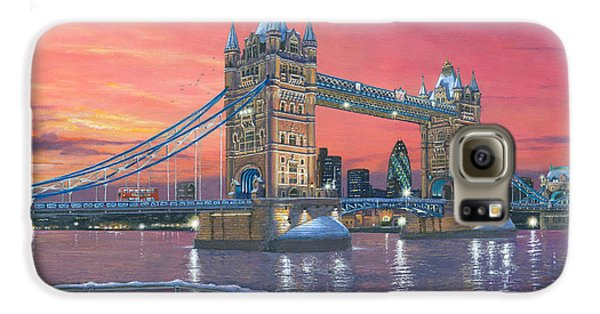 Tower Bridge After The Snow Galaxy S6 Case by Richard Harpum