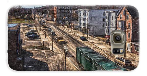 Traffic On Lincoln Street Galaxy S6 Case by Bob Orsillo