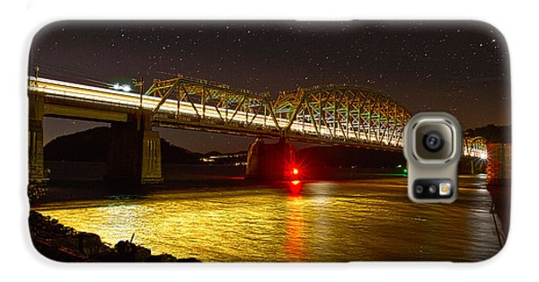 Train Lights In The Night Galaxy S6 Case by Miroslava Jurcik