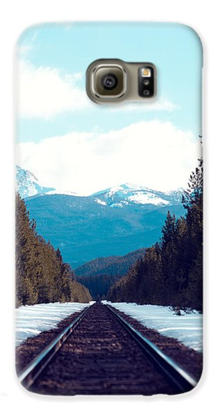 Train To Mountains Galaxy S6 Case by Kim Fearheiley